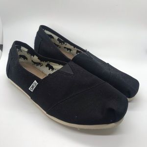 Toms Black Slip-On Loafers Casual Comfort Shoes